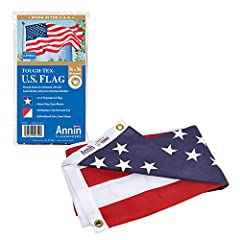 Authentic! SINCE 1847- Annin Flagmakers is the OLDEST and LARGEST manufacturer of flags. Made in our factories in South Boston, VA or Coshocton, OH by one of our OVER 500 employees. Don't accept an imitation! 100% Made in the United States! U. S. law...