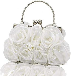 LISCENERY Abendhandtaschen aus Seide mit Rosenmuster, Clutch, Brautschmuck, Brautjungfer, Geldbörsen, Clutch, Schultertasc...