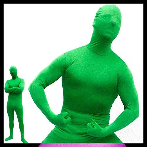 GOODS+GADGETS Hautenger Ganzkörper Body Suit Green Man Anzug Kostüm aus Spandex-Lycra - Medium