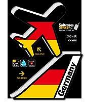 KK-016 GERMANY ドイツ 機体国旗ステッカー 航空ステッカー