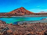 1000 Rompecabezas para Adultos y Adolescentes Volcán Cerca de la Costa de Lanzarote, Islas Canarias, España Gran Rompecabezas