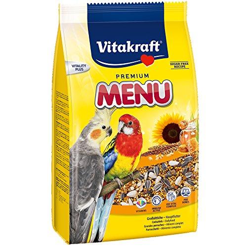 Vitakraft | Vogelvoer | Parkieten | 3 kg | Suikervrij | Vol vitaminen en mineralen | Handige hersluitbare verpakking