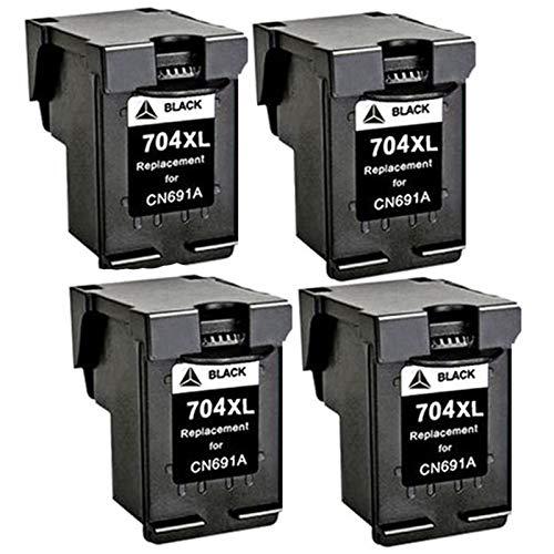 Adecuado para cartucho de tinta HP 704XL y Deskjet Ink Advantage 2010-K010a 2060-K110a CN692A Cartucho de tinta de impresora negro, rojo, amarillo, azul, negro4
