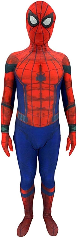 Spiderman Hero Far From Home Anime Costume Kids Cosplay Costumes Fancy Dress Jumpsuit Onesies Printing Hoodie,AS