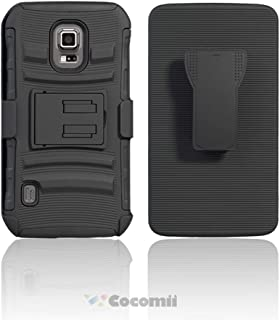 Cocomii Blade Armor Galaxy S5 Active Case New [Heavy Duty] Premium Belt Clip Holster Kickstand Shockproof Bumper [Military Defender] Full Body Rugged Cover for Samsung Galaxy S5 Active (Bl.Black)