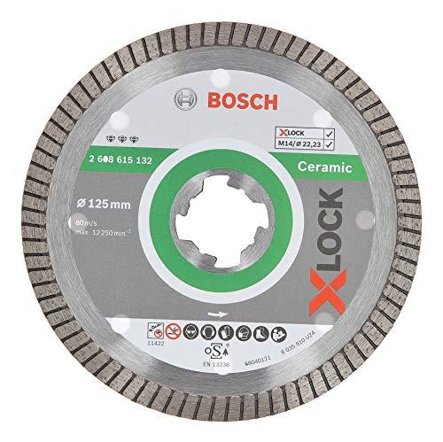 Bosch Professional Diamanttrennscheibe Best (für Keramik, X-LOCK, Extraclean Turbo, Ø125 mm, BohrungsØ: 22,23 mm)