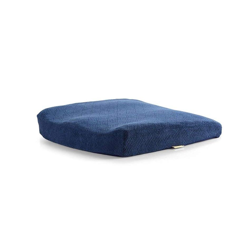 パブバッフル効果的に2J-QingYun Trade 太ももの筋肉をリラックスさせる効果的にお尻の保護毛羽立ちの背もたれの記憶無地の尾のオフィスの椅子遅い反動の記憶パッドの枕クッション (Color : Navy)