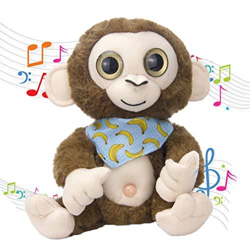 KKPLZZ Juguete de Peluche Suave de Mono eléctrico Que Habla, Mono eléctrico Que Habla de Juguete de Peluche Suave Mono de Dibujos Animados Muñeco de Peluche de Juguete para niños Regalo de cumpleaños