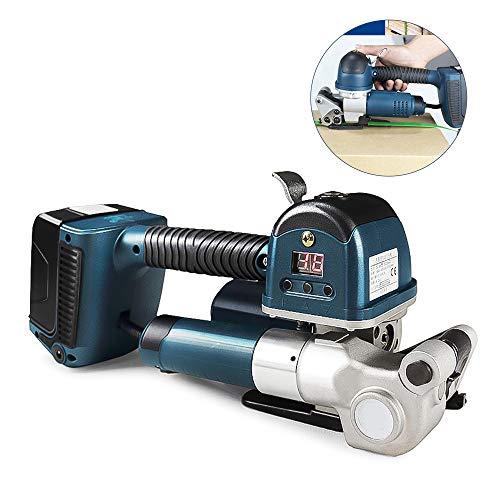 MaquiGra Elektrische Ballenpresse 4000N automatischer digitaler tragbar Schleifbandmaschine für PP/PET-Bänder Mit wiederaufladbarer Batterie4000mAh*2