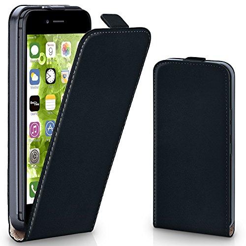 MoEx® Flipcase kompatibel mit iPhone 6S / iPhone 6 | Klapphülle Handytasche mit Rundum Schutz - Handy Hülle Klappbar Flip Case, Schwarz