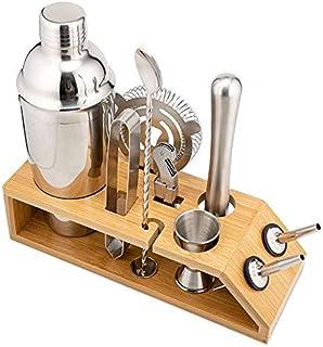 SUNPIN Blender Set: 24 oz stainless steel blender with Strianer, Jigger, Muddler, stirring spoon, ice tongs, cocktail filt...