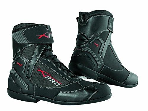 Wasserdichte Schuhe Motorrad Stiefel Sport Touring Roller A-Pro Schwarz 44