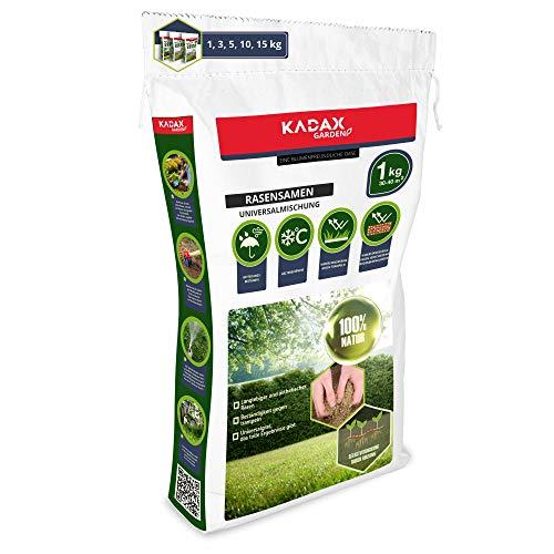 KADAX Rasensamen, Grassaatgut, universales Gras, Rasenmischung, Grassamen, Samen, Rasensaatmischung, Saatgut für robusten und ästhetischen Rasen (1 kg)