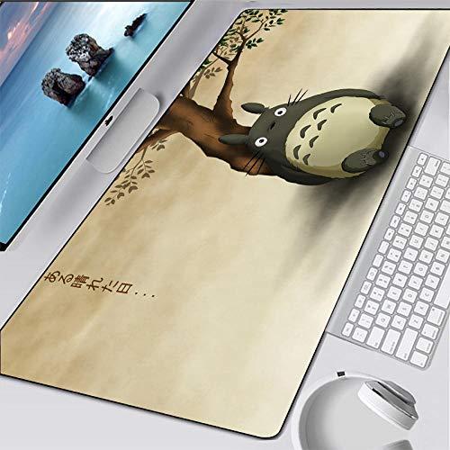VancyTop alfombrilla de ratón grande Dibujos animados, japón, animación, personaje 800x300x3mm Alfombrilla de extensión de mesa de juego alfombrilla de goma antideslizante con borde de costura alfombr