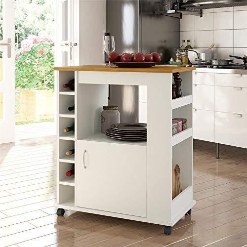 Ameriwood Home Williams Kitchen Cart, White