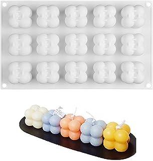 PEPENE 15 formar, silikonform för bakning chokladkaka och tillverkning av 3D handgjorda ljus, DIY-verktyg för mousse desse...