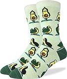 Good Luck Sock Men's Avocado Yoga Socks - Green, Adult Shoe Size 7-12