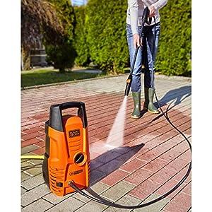 Black + Decker PW1300S Black and Decker 14075 Hochdruckreiniger, 1.300 W, 100 bar, Universalmotor, 1300 W, Orange/Schwarz