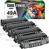 Cool Toner Compatible Toner Cartridge Replacement for HP 49A Q5949A HP 1320 Toner Cartridge 49X Q5949X 53A Q7553A HP Laserjet 1320 1320n 1160 3390 P2015 Toner Printer (Black, 4-Pack)