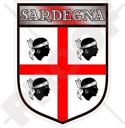 SARDINIEN Sardinischer Schild ITALIEN Sardinien Italienisch 100mm Auto & Motorrad Aufkleber, Vinyl Sticker