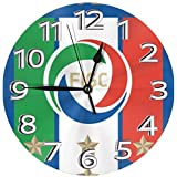イタリアサッカーワールドカップ 置き時計 掛け時計 壁掛け時計 丸い時計 サイレント デジタル時計 おしゃれ 家の装飾