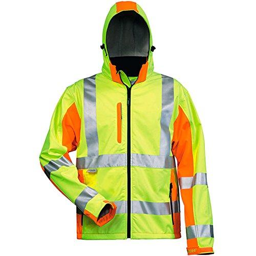 Elysee 22735-XL Warnschutz-Softshelljacke Adam Größe XL in gelb/orange