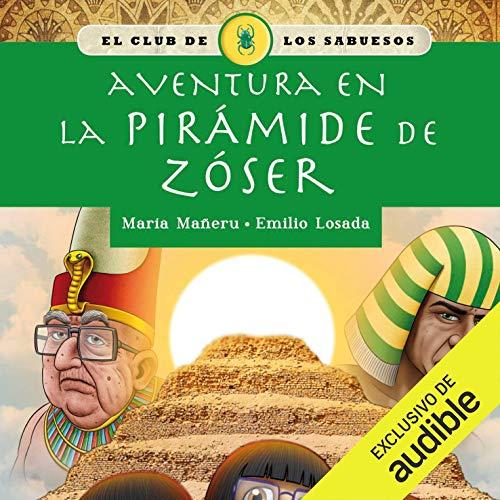 Diseño de la portada del título Aventura en la pirámide de Zóser