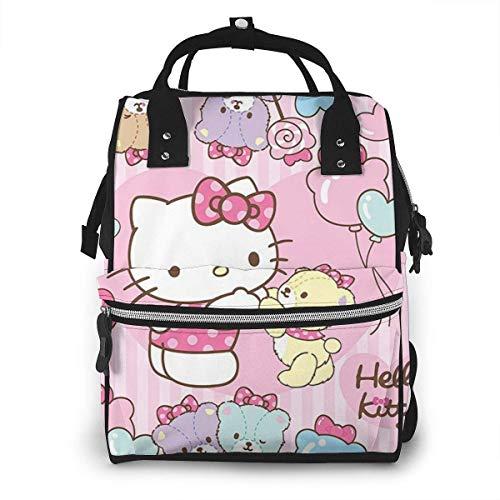 yusanbaihuodian Wickeltasche Rucksack - Hello Kitty mit Bär Multifunktions wasserdichter Reiserucksack Mutterschaft Baby Windel Wickeltaschen