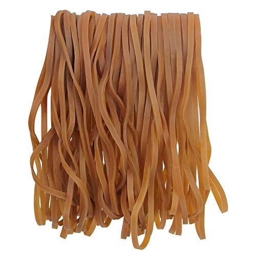 SNAGAROG 50 Stück Große Gummibänder elastische Gummibänder Haushalt Gummiringe breit stark Gummiringe für Mülleimer, Bürobedarf, Aktenordner(Dunkelgelb)