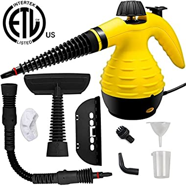 LOVIN PRODUCT Handheld Steam Cleaner, HIGH-PRESSURE Chemical Free Steamer; ALL IN ONE; ETL LISTED; Removing Grease, Stains, Mold and more for Home, Auto, Patio