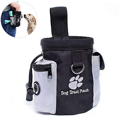 Voedertas voor honden - lekkerlitas snack bag met clip & lus - voertas voor hondentraining en opleiding - waterdicht en afwasbaar (12.5x8x12.5 cm)