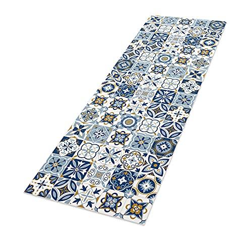 Alfombra Vinílica, 50 x 140 cm, Baldosas, Azul, ALV-075