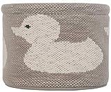 Kindsgut Körbchen aus OEKO-TEX zertifizierter Baumwolle, ideal zur Aufbewahrung, Utensilio für Ordnung im Kinder-Zimmer oder auf der Wickel-Kommode, schlichtes Design und dezente Farben, Ente