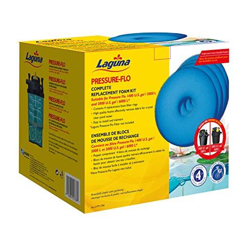 Laguna Schaumstoff Filter 4X für Pressure-Flo 5000 und 6000 Schaumstofffilter, Blau, 19,5 x 19,5 x 22,5 cm