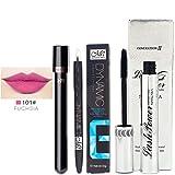 Creazy Menow Waterproof Long Lasting Liquid Eyeliner Pen Lip Gloss Mascara Set (A)
