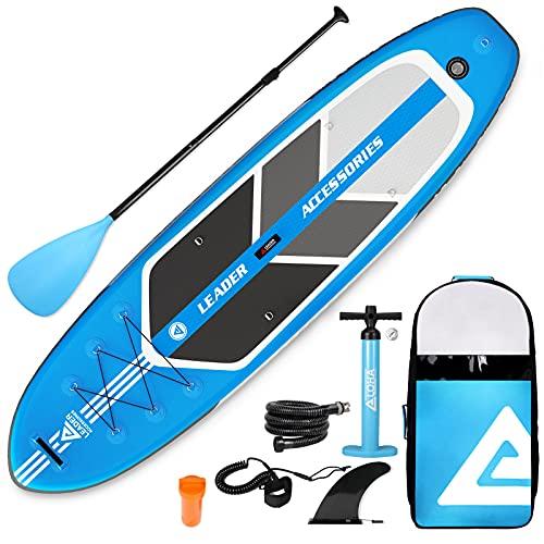 Leader Accessories SUP SUPボード インフレータブル サップ スタンドアップパドルボード サップボード 初心者 中級者 320*84*15cm(lightblue)
