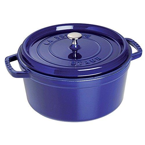 STAUB Round Cocotte, 5.5 quart, Dark Blue
