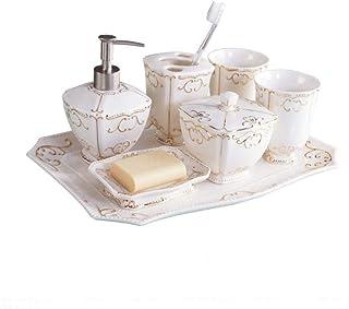CZOOR Cuarto de baño, Cuatro o Cinco Juegos de artículos de baño de cerámica, Juego de Lavado, Cepillo de Dientes, Kit de ...