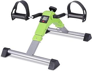 Folding Mini Exercise Bike Portable Home Pedal Exerciser Rehabilitation Training Machine (Color : Green)