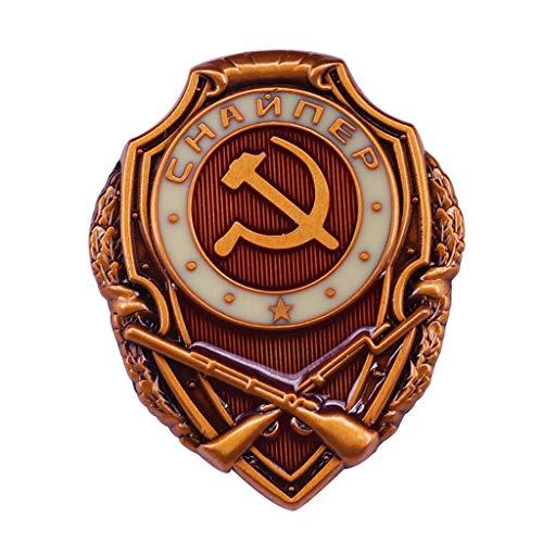 JXS Placa Militar soviética CCCP, Soldado de Francotirador Combatir la réplica de la Medalla, Insignia de Cobre, colección Militar de Fan 4pcs
