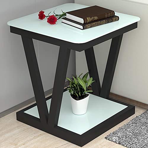 KEKOR Pequeña Mesa de Centro Simple Mini Pequeña Sala de Estar Cuadrada Sofá Lateral Esquina Mesa de Noche Mesa Cuadrada, 50x50x60cm, 60x60x60cm Mueble del salón (Color : D, Size : 60x60x60cm)