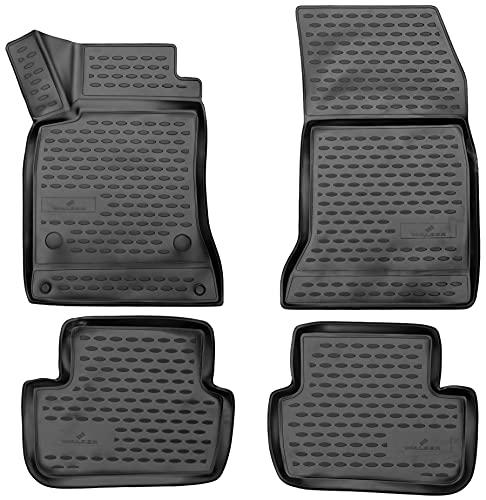 WALSER Tapis de sol sur mesure XTR en caoutchouc compatible avec Mercedes-Benz Classe A (W176) 06/2012 - 05/2018, Tapis voiture en caoutchouc