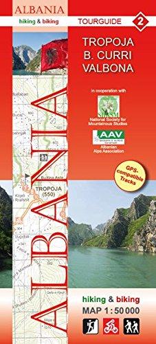 Albania hiking & biking 1:50000: Karte 2: Tropoja - B. Curri - Valbona