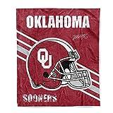Flannel Throw Blanket University Logo Print Warm Blankets Super Soft 50'' × 60'' (Oklahoma Sooners)