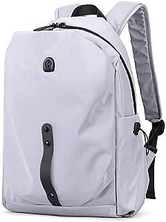 LKNJLL Travel Backpack,Men and Women Shoulder Bag Fashion Trend Light and Simple Bag Large Capacity Travel Backpack (Color : White)