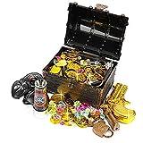 Ulikey Monedas de Oro Juguete Pirata Niños, Monedas Doradas de Plástico de...