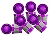 Reusable Filter Cups Compatible with Keurig 1.0 & 2.0 Machines - Fits Most Keurig Brewers (Purple_6 Pack)