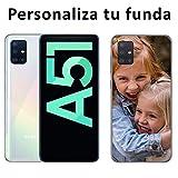 Mookase Funda Carcasa Gel Personalizada para Samsung Galaxy A51 con tu Foto, Dibujo o Texto