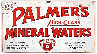 Emmett Holmes Tin Vintage Metal Sign Palmer's Mineral Waters Advertisement Country Garage for Men Home Decor Poster House Rules Wall Art Decor 8X12 inch