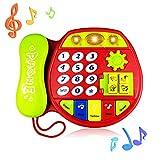 Tmox Regalo para Bebé De 6-18 Meses, Regalo De Juguete para Teléfono De 12-24 Meses Juguete Clásico para Niña De 1-3 Años Regalo De Cumpleaños para Bebés De 9-18 Meses para Niños Edad 1 2